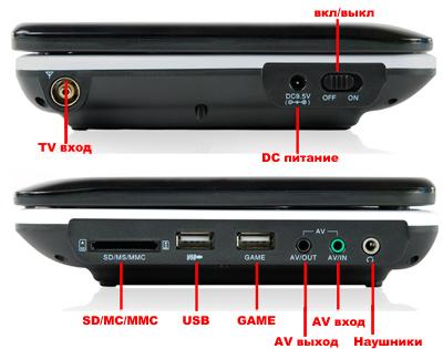 Портативный DVD-плеер XPX-EA-1048